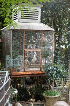 Love the giant bird cage....
