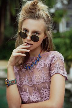 bohemian lace and jewelry