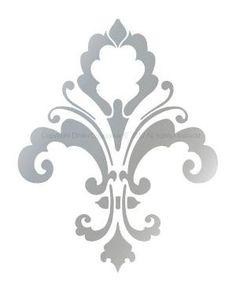 """FLOR DE LIS Diseñador decorativo Plantilla elegante de decoración de la pared, cortinas, pasteles, damasco, Mural, 3004, tamaño 4 """"x 5"""". $ 6,95, a través de Etsy. por Daphne"""