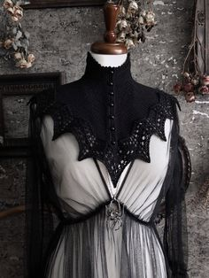 Witch Fashion, Gothic Fashion, Renaissance Clothing, Renaissance Outfits, Stylish Outfits, Fashion Outfits, Fashion Design Sketches, Material Girls, Black Knit