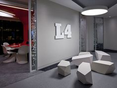 Futuristic Office, Google Engineering HQ by PENSON, London, UK, Futuristic Interior Design