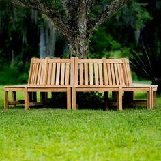 6 ft Teak Tree Bench Section | Westminster Teak Teak Furniture, Lounge Furniture, Outdoor Furniture, Westminster Teak, Tree Bench, Modern Lounge, Outdoor Chairs, Outdoor Decor, City Beach