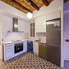 Cocina con mezcla de estilos #decoración #vintage