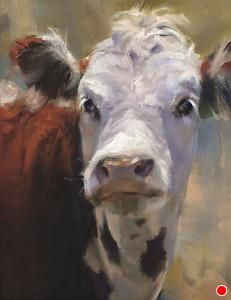 Ears ( Winner, Southwest Art Artistic Excellence Competition Oil Painters of America 2012 National Exhibition) by Daria Shachmut Oil ~ 18 x 14 Cow Pictures, Pictures To Paint, Paintings I Love, Animal Paintings, Paintings Of Cows, Cow Painting, Painting & Drawing, Farm Art, Cow Art