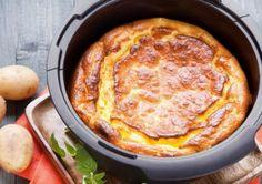 Quark-Kartoffel-Soufflé Vegan Vegetarian, Vegetarian Recipes, No Bake Desserts, Finger Foods, Brunch, Food And Drink, Veggies, Yummy Food, Eat