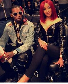 Like the look?! Migos' #Offset spotted at the Nets Game with #CardiB this weekend.