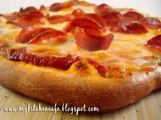 """The BEST homemade pizza and pizza sauce.  I always make the """"Fast and Easy Pizza Dough"""".  ***PLEASE NOTE***  her sauce has 1 t. sugar on one of the pages on another page, the same recipe has the sugar as 1 T.  I think the latter is a typo, because I T. of sugar for the sauce is WAY too much.  I t. is perfect!!"""