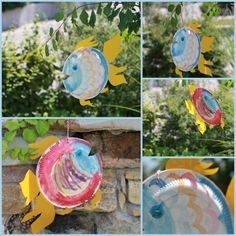 Basteln mit Kindern: Fische aus Papptellern