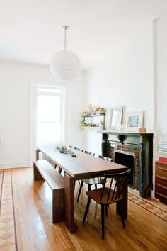 Simple dining room