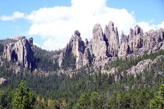 Custer State Park SD - 30 miles south of Rapid City) is one of the nation's largest state parks, known for granite spires called Needles and the head of bison that wander freely throughout the park Places To Travel, Places To See, Hiking Places, South Dakota Travel, North Dakota, Custer State Park, Small Towns, So Little Time, Travel Usa