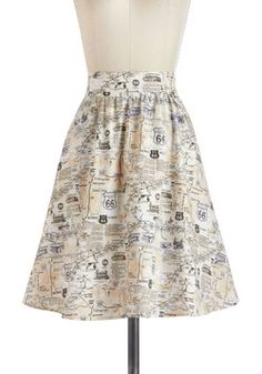Back to Your Routes Skirt, #ModCloth--I want this skirt...perfect for cruising!