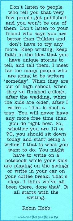 Writers write creative blog