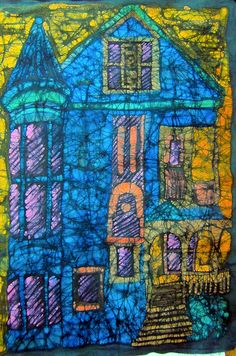 Upper School Art (Grades 7-12): #Batik Buildings High School