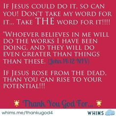 I can do all things in Jesus Christ which strengthens me!!