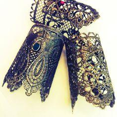 Utopia Elena K.  Metallic Lace Cuffs