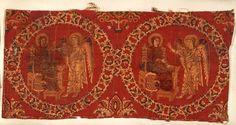 Samit avec la scène de l'Annonciation, VIIIe-IXe siècless, soie, fabriqué à en…