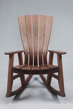 Sunniva Outdoor Rocking Chair in Walnut : Brian Boggs Chairmaker