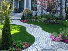 Concrete walkway ideas featuring innovative use of cement walkways and various concrete walkway designs add to the beauty of your home. Description from landscapinggallery.info. I searched for this on bing.com/images