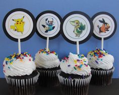 Babadoo Designs: Personalized Invitations, Announcements & Stationery Designs taken from original watercolor paintings made exclusively for Babadoo Designs. Pokemon Birthday Cake, Pokemon Party, Birthday Cupcakes, Boy Birthday, Birthday Ideas, Birthday Parties, Pokemon Cupcakes Toppers, Cupcake Toppers, Birhday Cake