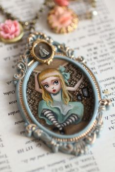 Alice Grows - original cameo by Mab Graves by mab graves, via Flickr