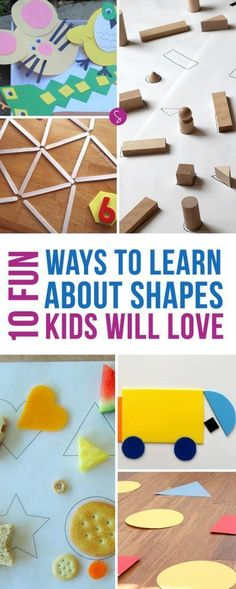 Learning the different shapes is really important for toddlers and preschoolers as they are key to pre-math and logic and pre-reading and writing skills.  {pacifickid.net}