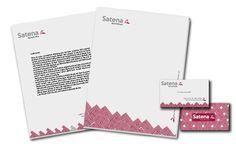Papelería comercial, membrete, sobre, tarjeta de presentación
