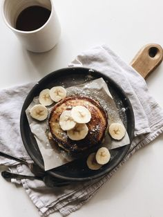Simple Banana Ricotta Pancakes / Bev Cooks