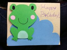 Frog card...