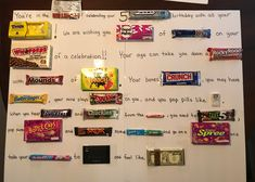 A birthday candy poem! So much fun to give!