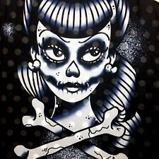 Iron Fist Dead Quiet Tank Top L Chiffon Skull Rockabilly Punk Goth Sheer Pin Up in Clothing, Shoes & Accessories, Women's Clothing, Tops & Blouses | eBay
