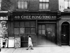 Chinese Freemason Society in Limehouse, near London's docklands, in When Streatham was a spa retreat, Limehouse housed Chinatown and the area around St Pancras station was a disease hotbed nicknamed Ague Town Old London, Vintage London, East London, London City, London Docklands, London History, British History, Uk History, Historia
