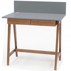 Luka Writing Desk 110cm Ragaba • WOO .Design Office Desk, Home Office, Wooden Drawers, Study Space, Cable Management, Writing Desk, Foot Rest, Furniture, Design
