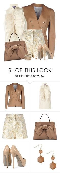 """""""Dressy Shorts"""" by daiscat ❤ liked on Polyvore featuring Ports 1961, Ralph Lauren, Dolce&Gabbana, Valentino, Sergio Rossi, MOOD and Accessorize"""