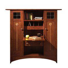 Harvey Ellis Fall Front Bookcase.  Beautiful!  I love Stickley furniture.
