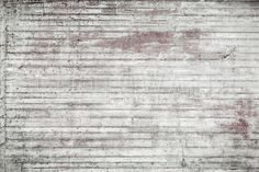 White and Red Concrete Wall - Wall Mural