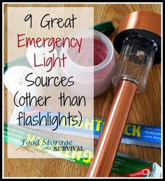 Solar power - 30 Days of Preparedness Challenge: Day 9 -- Nine great emergency light sources other than flashlights! Food Storage and Survival Survival Food, Survival Prepping, Doomsday Prepping, Survival Quotes, Wilderness Survival, Survival Skills, 72 Hour Kits, Emergency Supplies, Survival Supplies