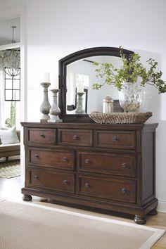 Series Name: Porter | Item Name: Bedroom Mirror | Model #: B697-36