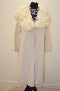 Vintage White Cashmere Fox Fur Huge Collar Pin Up by Vtgantiques, $325.00
