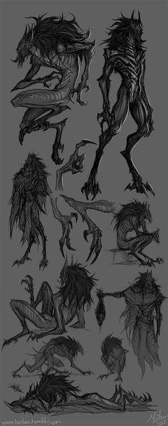 Monster Art, Shadow Monster, Monster Drawing, Monster Concept Art, Alien Concept Art, Creature Concept Art, Fantasy Monster, Monster Design, Creature Design
