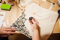 workshop totebag Lotte Martens drukken