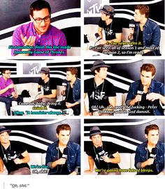 tvd - ian and paul at comic con 2014