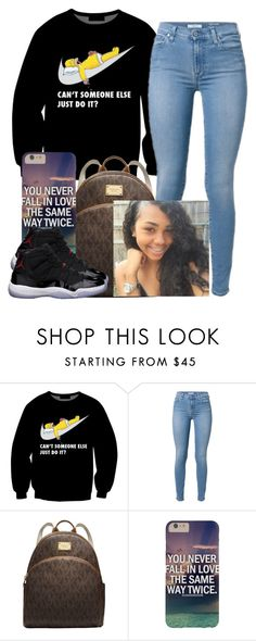 """Lmaoo I love that sweatshirt"" by trillest-queen ❤ liked on Polyvore featuring Michael Kors and Freaker"