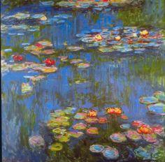 Reproduction de Monet, Nénuphars. Tableau peint à la main dans nos ateliers. Peinture à l'huile sur toile.