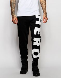 Hero's+Heroine+Skinny+Joggers+With+Large+Logo