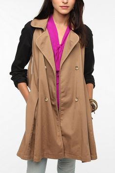 want it!! Pins and Needles Colorblock Trench Coat  #UrbanOutfitters