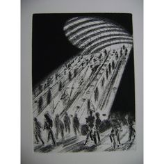 Canary Wharf Underground, Limited Edition etching by Toni Martina