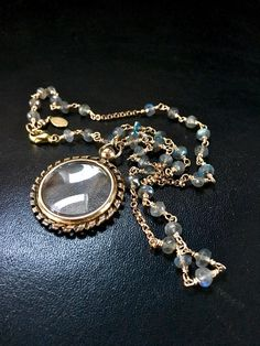 Victorian Locket Necklace Gold Picture Locket by FribblePistol