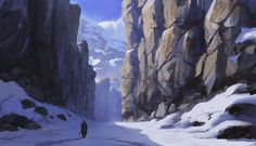 Crevice by thomaswievegg mountains cavern gorge winter snow landscape location environment architecture | Create your own roleplaying game material w/ RPG Bard: www.rpgbard.com | Writing inspiration for Dungeons and Dragons DND D&D Pathfinder PFRPG Warhammer 40k Star Wars Shadowrun Call of Cthulhu Lord of the Rings LoTR + d20 fantasy science fiction scifi horror design | Not Trusty Sword art: click artwork for source