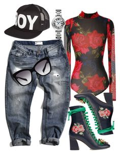 """Service"" by thestylesnitch on Polyvore featuring BOY London, One Teaspoon, Gucci and Dolce&Gabbana"