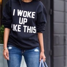 I woke up like This pullover Black small sweatshirt Sweaters Crew & Scoop Necks
